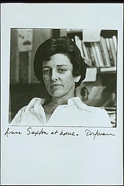 Author photo. Portrait of Anne Sexton by Elsa Dorfman