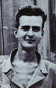 Author photo. Robert V. Reynolds, photo taken 3 days after V-J Day, Sept. 5, 1946, Camp Funatsu, Japan [source: plate facing page 176 in Of Rice and Men, 1947]