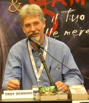 Author photo. Troy Denning, Lucas Comics & Games, 2007. Photo by user torre.elena / flickr.