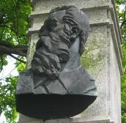 Author photo. Bust of Anton Aškerc, Ljubljana. Photo by user Sl-Ziga / Wikimedia Commons.