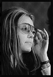 Author photo. Gloria Steinem (1934-   )<br> News conference, Women's Action Alliance. <br>Photograph by Warren K. Leffler, Jan. 12,  1972.<br> (U.S. News and World Report Collection, <br>Library of Congress Prints and Photographs Division)