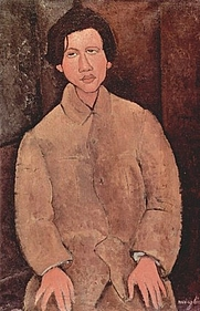 Author photo. Chaim Soutine painted by Amedeo Modigliani in 1916 (public domain)