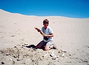 Author photo. Glenda Goertzen in the Great Sandhills of Saskatchewan