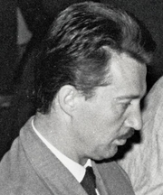 Author photo. Gligoric, European Championship 1961 at Oberhausen