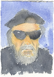 Author photo. Water color portrait of t. kilgore splake, done by Henry Denander