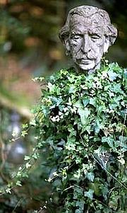 Author photo. Sir Frederick Ernest Gibberd: bust in Gibberd Garden, Harlow, Essex, UK.