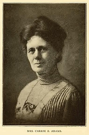 Author photo. Carrie B. Adams. Portrait from page 368 of Biography of Gospel song and hymn writers (1914) by Jacob Henry Hall