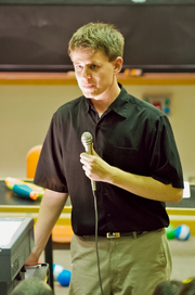 Author photo. Randall Munroe [credit: Wikimedia Commons user Petehume]