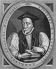 Author photo. Frontispiece from a 17th-century book of sermons