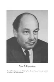 Author photo. Peter G. Bergmann [credit: Syracuse University]
