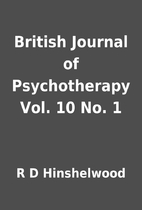 British Journal of Psychotherapy Vol. 10 No.…