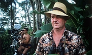 Author photo. Reg Gadney in Jamaica for the filming of Goldeneye, 1989. Gadney wrote the television script and enjoyed a cameo role as an ornithologist.