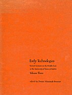 Early Technologies (Invited Lectures on the…