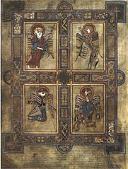 Author photo. The four evangelist symbols