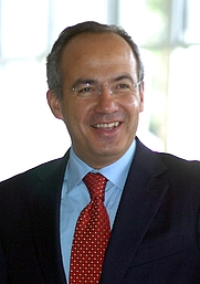 Author photo. Felipe Calderón, 2006.  Photo by Agência Brasil.