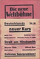 Die neue Weltbühne. III. Jahrgang. 13.…