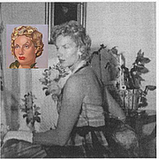 Author photo. Kizette de Lempicka/with painted image by her mother Tamara (1954-55)