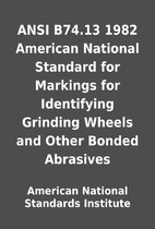 ANSI B74.13 1982 American National Standard…