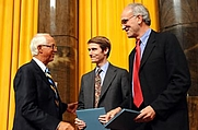 Author photo. Walt Bogdanich, on right.  Columbia University. <A HREF=&quot;http://www.pulitzer.org/citation/2008,Investigative+Reporting&quot;> pulitzer.org</A>