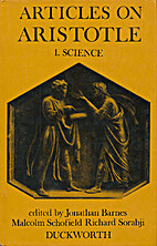 Articles on Aristotle by Jonathan Barnes