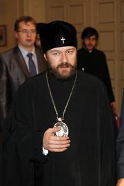 "Author photo. Στις 12 Δεκεμβρίου 2011, ο Υπουργός Εξωτερικών Σταύρος Δήμας είχε συνάντηση με το Μητροπολίτη Βολοκολάμσκ Ιλαρίωνα, Πρόεδρο του τμήματος των Εξωτερικών Εκκλησιαστικών Σχέσεων του Πατριαρχείου Μόσχας. By Υπουργείο Εξωτερικών - Συνάντηση ΥΠΕΞ Σ. Δήμα με Μητροπολίτη Βολοκολάμσκ Ιλαρίωνα, CC BY-SA 2.0, <a href=""https://commons.wikimedia.org/w/index.php?curid=20711916"" rel=""nofollow"" target=""_top"">https://commons.wikimedia.org/w/index.php?curid=20711916</a>"