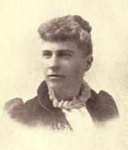 Author photo. Abbie Gardner-Sharp. Frontispiece from History of the Spirit Lake massacre and captivity of Miss Abbie Gardner (1895)