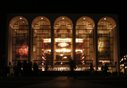 Author photo. Photograph of the facade of the Metropolitan Opera House at Lincoln Center, New York, New York. Taken on 12 March 2004 by Paul Masck and released with a Creative Commons license on 30 July 2005 by the photographer.