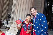 """Author photo. National Archives Foundation leaders A'Lelia Bundles and Patrick Madden wearing their patriotic colors at the July 4th celebration at the National Archives in Washington, DC. NARA photo by Jeff Reed. By U.S. National Archives - 20160704-10, Public Domain, <a href=""""https://commons.wikimedia.org/w/index.php?curid=49917184"""" rel=""""nofollow"""" target=""""_top"""">https://commons.wikimedia.org/w/index.php?curid=49917184</a>"""