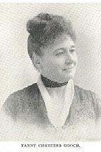 Author photo. Fanny Chambers Gooch Inglehart (1842-1913) Buffalo Electrotype and Engraving Co., Buffalo, N.Y.