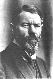 "Author photo. From <a href=""http://en.wikipedia.org/wiki/Image:Max_Weber.jpg"">Wikipedia</a>"
