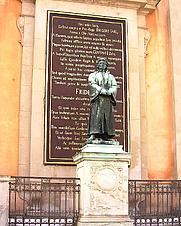 Author photo. Statue of Olaus Petri, Slottsbacken, Stockholm.  Photo by Mats Halldin / Wikimedia Commons.
