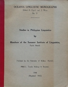 Studies in Philippine Linguistics by Members…