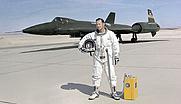 Author photo. YF-12A #935 and test pilot Donald L. Mallick, 1972