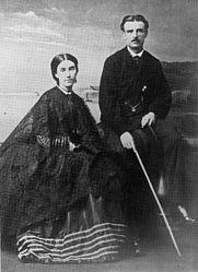 Author photo. Mary Anne Barker and Frederick Broome. Alexander Turnbull Library.