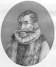 Author photo. Jan van der Does (Janus Dousa) [credit: Nicolas III de Larmessin; source: Alfred Gudeman: Imagines philologorum, Berlin/Leipzig 1911, S. 18; grabbed from Wikipedia]