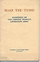 MANIFESTO OF THE CHINESE PEOPLE'S LIBERATION…