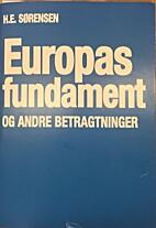 Europas fundament og andre betragtninger.…