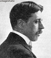 """Author photo. 'Arnold Bennett', The novelist of the 'Five Towns', (1923). Published in """"The Outline of Literature"""", by John Drinkwater, London, 1923"""