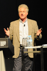 Author photo. Russell Blackford speaking at 2010 Global Atheist Convention. Credit: Wikipedia author Barrylb.