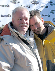 """Author photo. Armistead Maupin (left) at the Sundance Film Festival, 2006. Photo by <a href=""""http://www.flickr.com/people/tyreseus/"""">Jere</a>"""