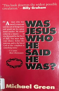 who is this jesus by michael green essay Who is this jesus (9781573834087) by michael green.
