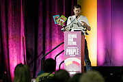 """Author photo. Mac Barnett and Greg Pizzoli give a presentation at the National Book Festival, August 31, 2019. Photo by Edmond Joe/For the Library of Congress.By Library of Congress Life - 20190831EJ0413.jpg, CC0, <a href=""""https://commons.wikimedia.org/w/index.php?curid=82899204"""" rel=""""nofollow"""" target=""""_top"""">https://commons.wikimedia.org/w/index.php?curid=82899204</a>"""
