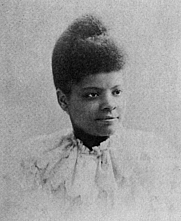 Author photo. Ida B. Wells Barnett. Page 60 of Sparkling Gems of Race Knowledge Worth Reading (1897) by James T. Haley.