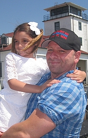 Author photo. Barry Donadio with Sadie Sophia Cinader. (Daughter of Heidi Snow Cinader.