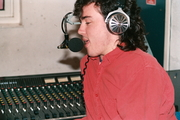 Author photo. DJ Rollo Armstrong broadcasting from Studio 2, University Radio York in 1987. Photo by Benet Allen.