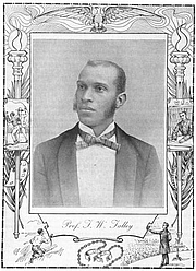Author photo. From: TWENTIETH CENTURY NEGRO LITERATURE OR A CYCLOPEDIA OF THOUGHT ON THE VITAL TOPICS RELATING TO THE AMERICAN NEGRO. 1902.