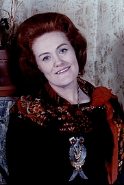 Author photo. Portrait of Dame Joan Sutherland, taken in New York, Allan Warren, 1975