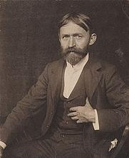Author photo. John Henry Twachtman, American impressionist painter. Photographer Gertrude Stanton Kasebier