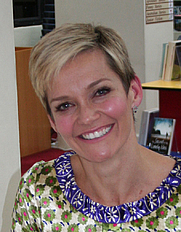 Author photo. Jessica Rowe. Photo courtesy of Mosman Library.