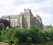 Author photo. Abbey of St. Pierre, Solesmes, France.  Photo by user Bautsch / Wikipedia, edited by LT uploader.